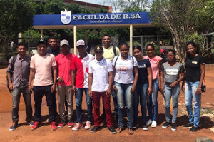 Pupils of the educational social action plan in Brazil